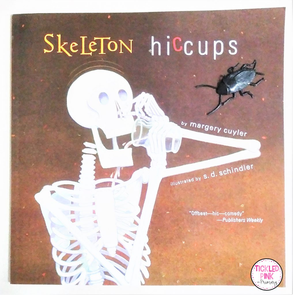 Skeleton Hiccups read aloud for October.